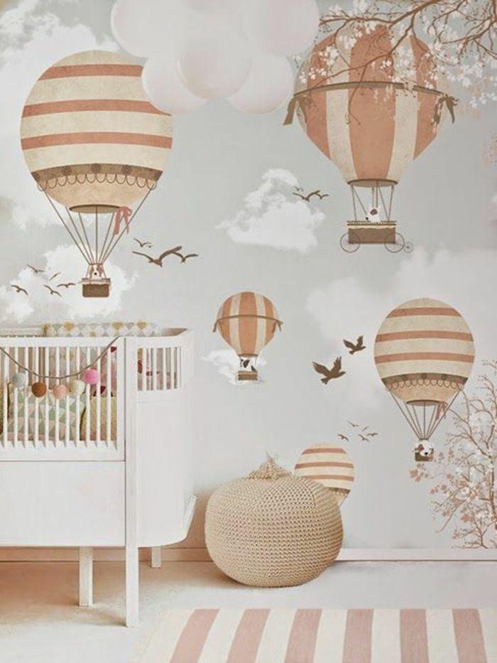 babyzimmer grau rosa beige interessante dekorationen an der wand, Schlafzimmer design