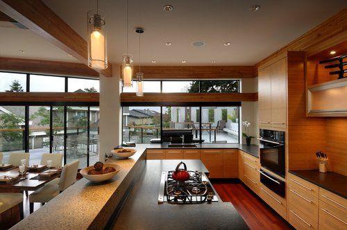 Home Decor Houses Interior Luxury Kitchen Glass House Design