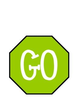 Stop And Go Sign For The Bathroom With Images Classroom