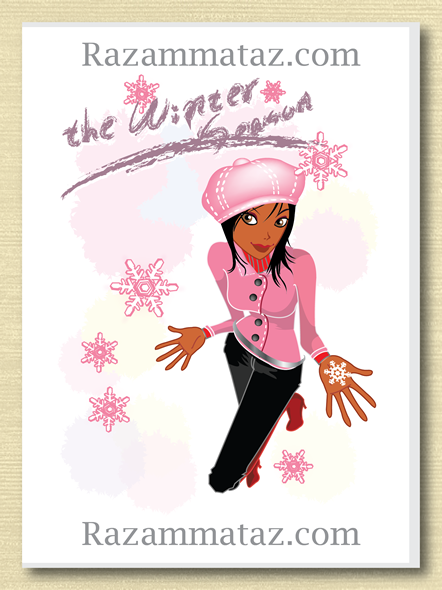 african american girl christmas card a statements of life