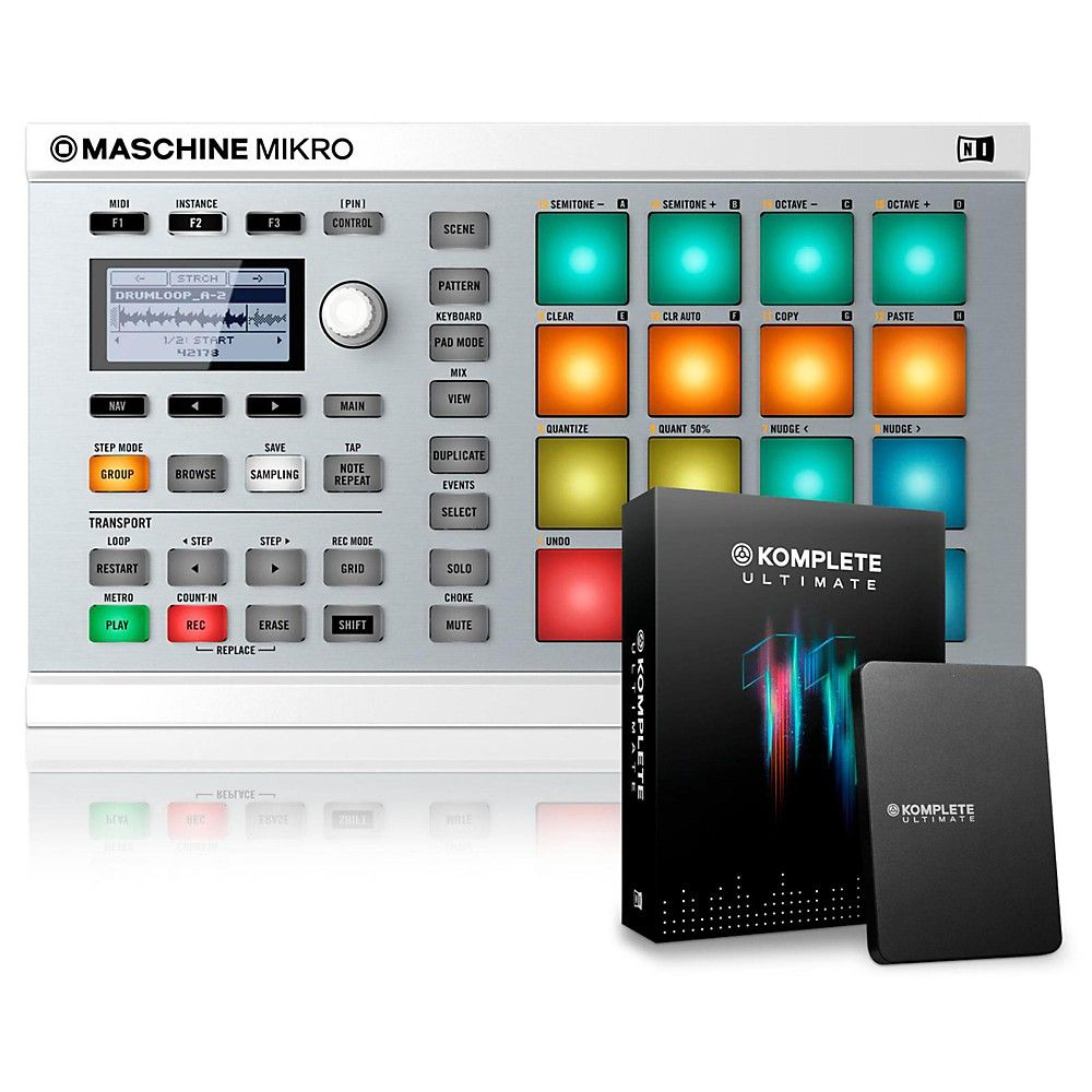 MASCHINE MIKRO MK2 with KOMPLETE 11 ULTIMATE | Products