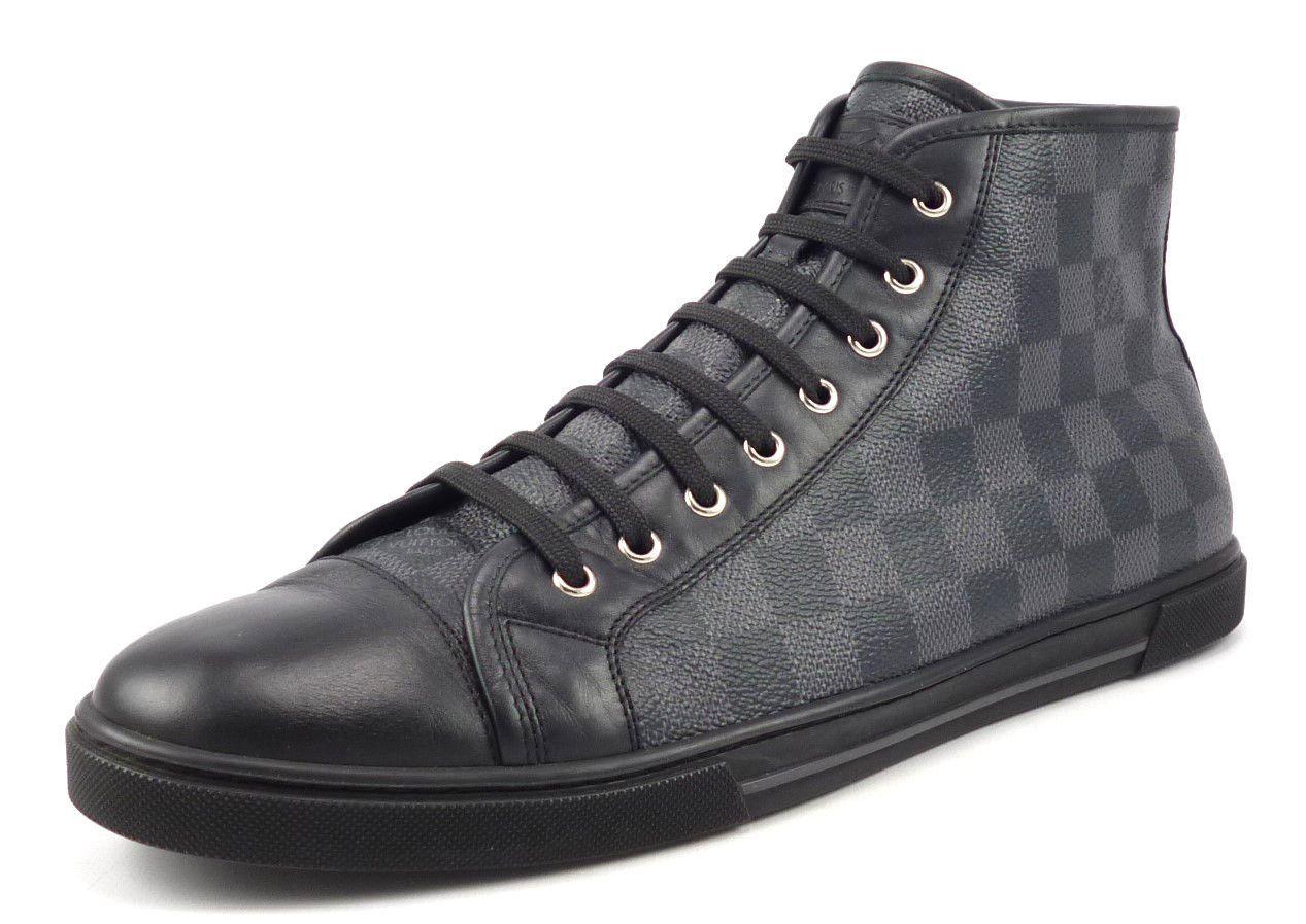 a29b44e044b Louis Vuitton Mens Shoes Size 9, US 10 Damier High Top Sneakers ...