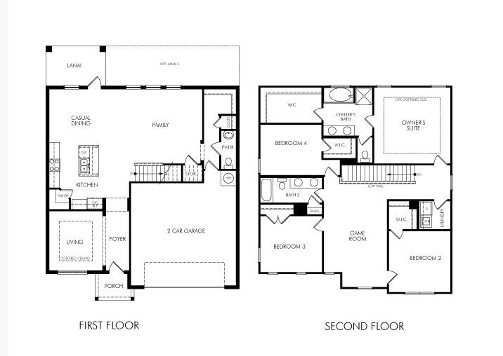 1000 images about floor plans on pinterest 4 bedroom 2 story house floor plans two - 2 Storey House Plans