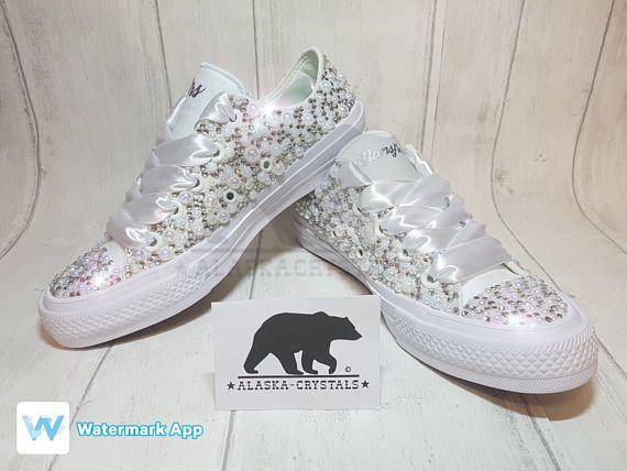 34b1146025e5 Chuck II   Luxury Converse   pearl converse   wedding converse