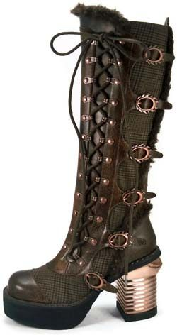 Langdon Brown Steampunk Boots
