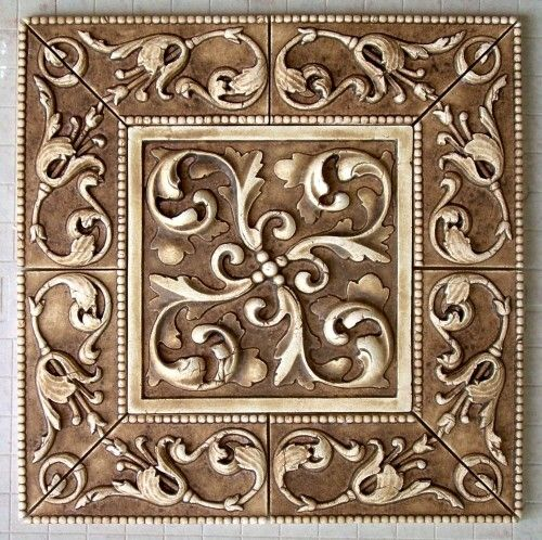View a gallery of small-sized decorative tiles for backsplashes, Austin,  TX, for kitchens and baths. ceramic murals, decorative tile