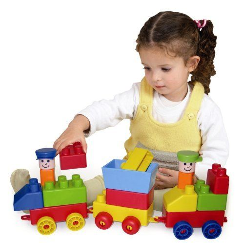 """Edushape Mini Edu Train, Set of 30 by Edushape. $24.07. From the Manufacturer                This soft, flexible block especially for your train to enhances fine motor skills, creativity and problem solving. This set comes with 30 pieces. Baby products by Edushape will enable babies to: explore, discover, visualize, and verbalize and so much more. At Edushape we encourage you to, touch with passion, laugh with love, and """"bond with your baby"""". Most of all have fun lear..."""