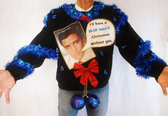 ugly christmas sweater contest winner elvis by taborstreasures - Balls Christmas Sweater