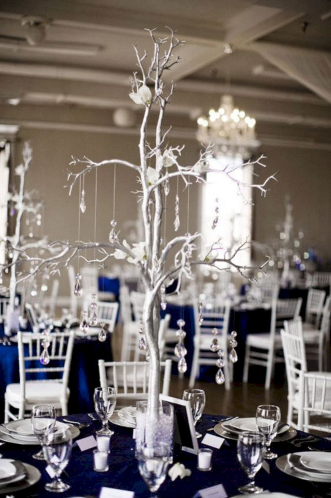 25 Elegant Blue And Silver Wedding Decorations Ideas For Wedding Decor Perfectly Silver Wedding Decorations Navy Blue Party Decorations Blue Party Decorations