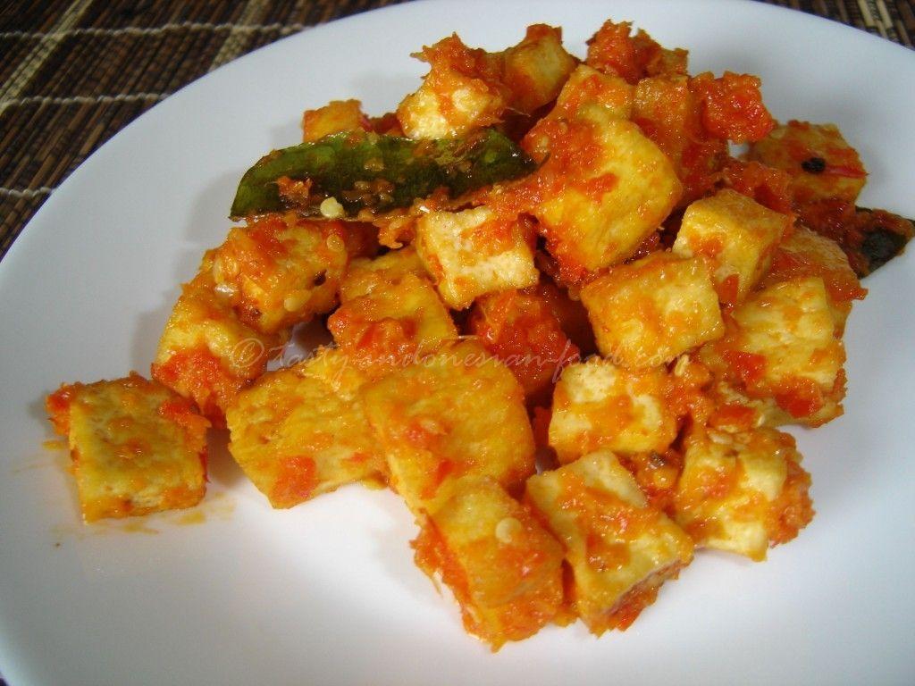 Balado Tahu- spiced Tofu   Tofu, Food, Tofu recipes