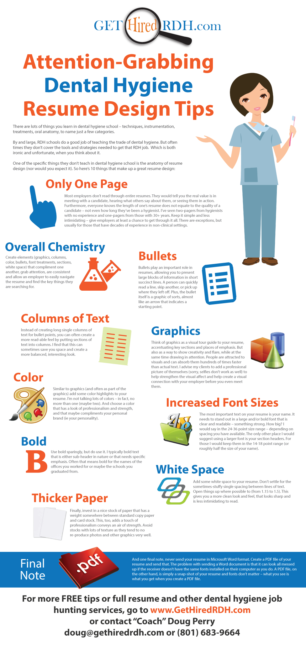 Attention-grabbing dental hygiene resume design tips. www ...