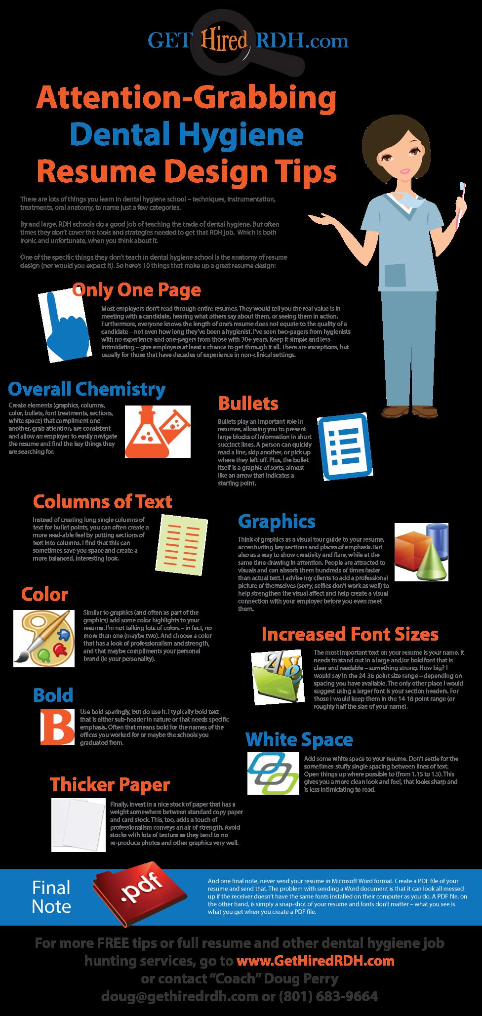 Attentiongrabbing dental hygiene resume design tips. www