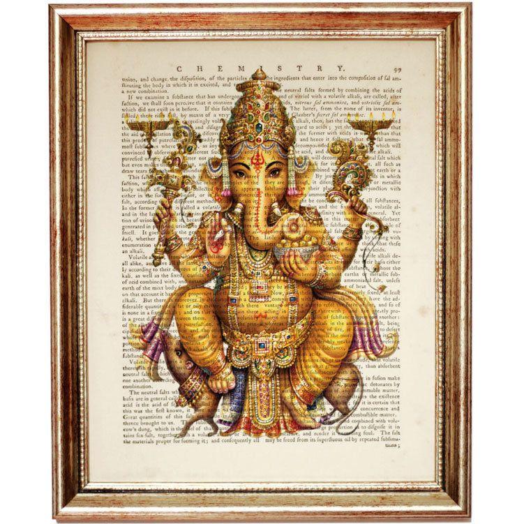 Ganesha Wall Art Ganesha Print Ganesh Wall Art Hindu Wall Etsy In 2020 Dictionary Art Print Octopus Art Print Poster Artwork