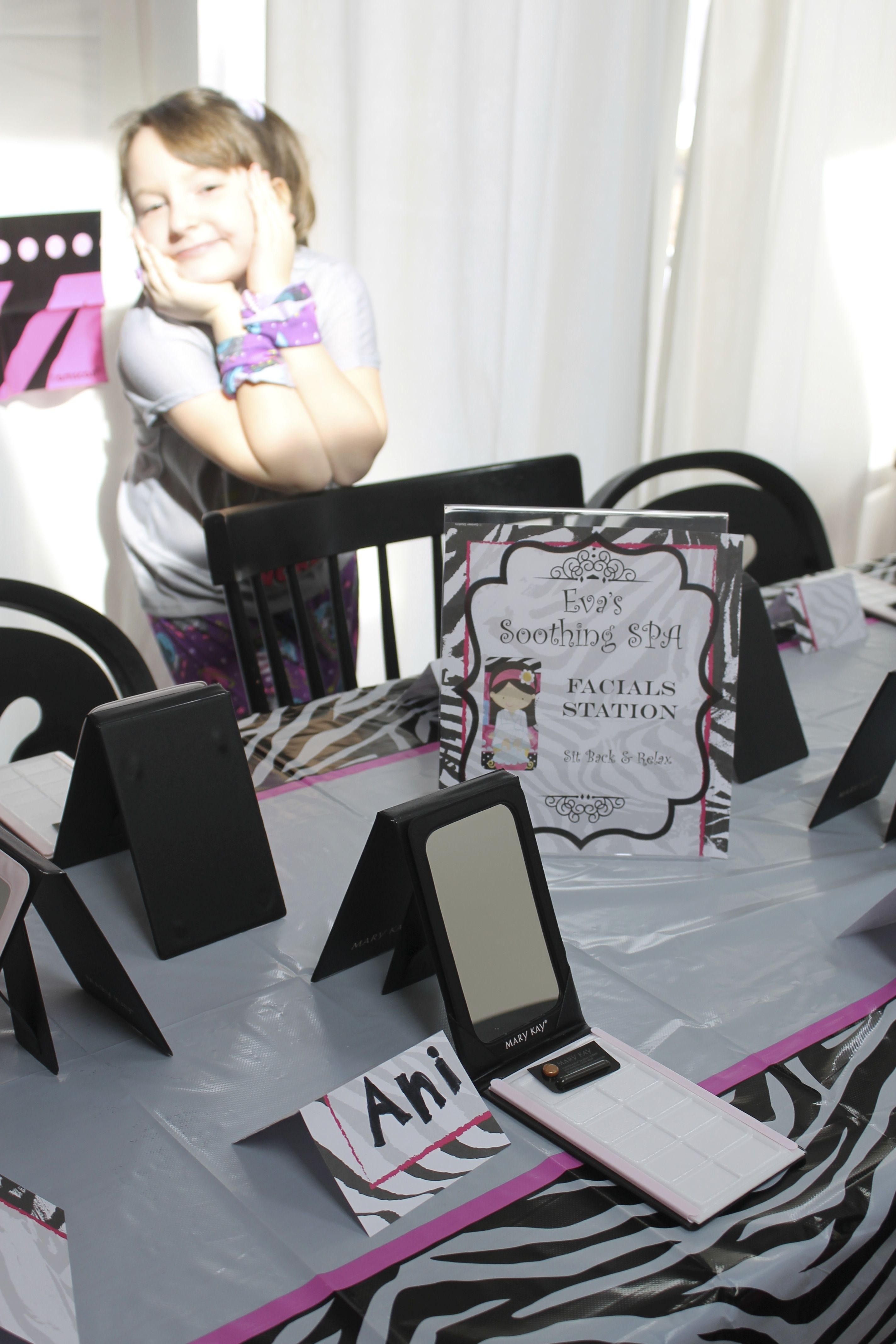 Spa Party Idea Mary Kay Facials Table Our 9 Year Old Guests Amp Birthday Girl Loved The