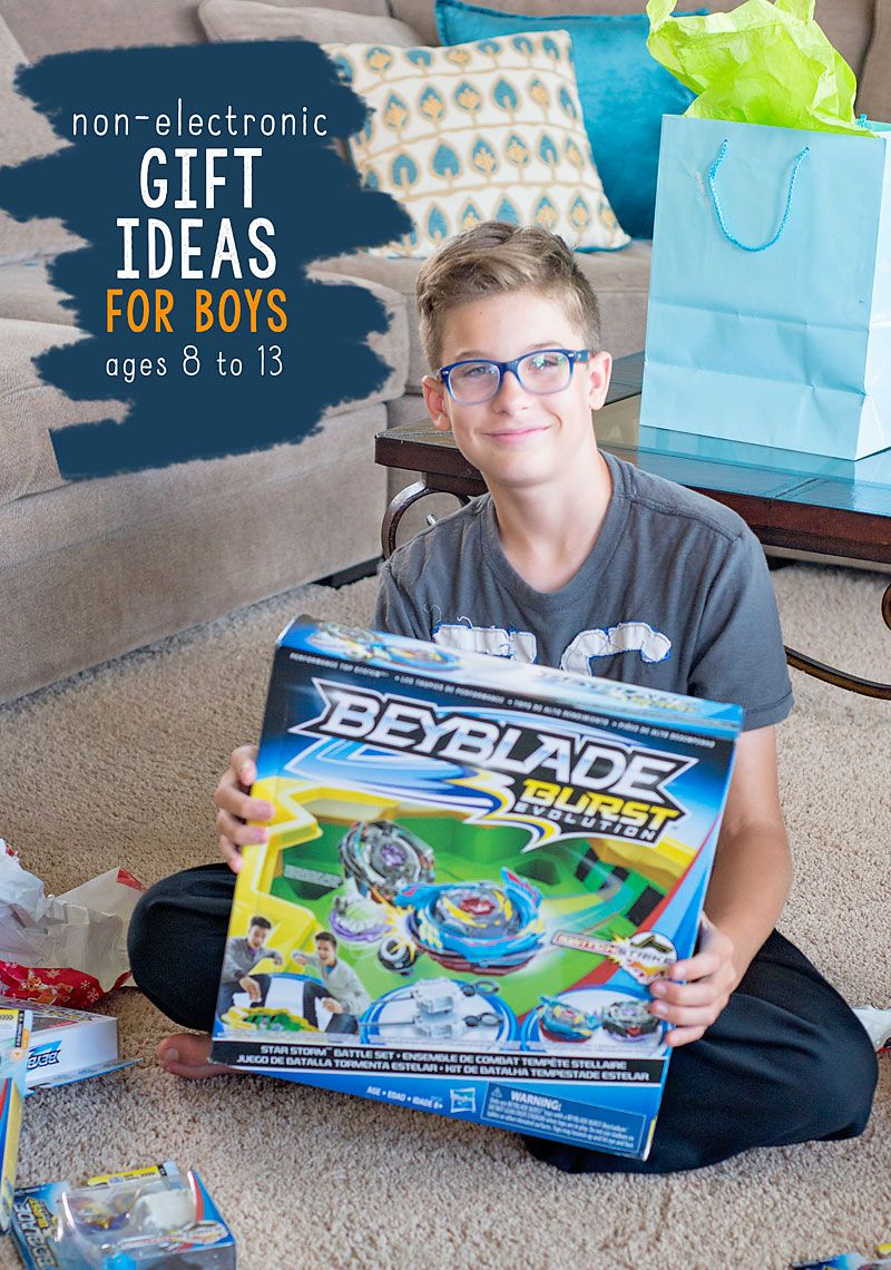 NonElectronic Gift Ideas for Boys ages 8 to 13. Cool