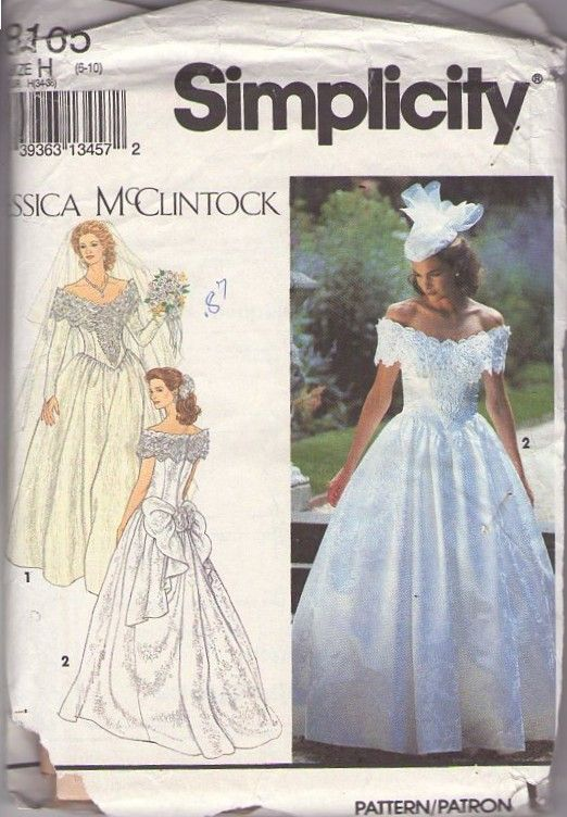 Momspatterns vintage sewing patterns simplicity 8165 for Wedding dress patterns vintage