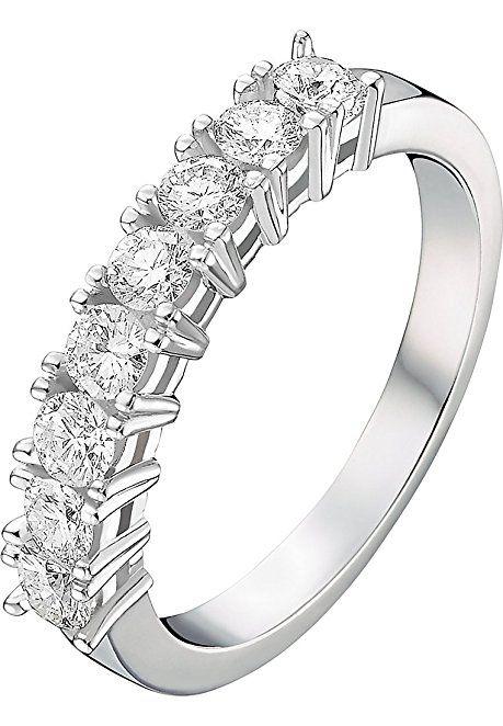 Christ Diamonds Damen Ring 585er Weissgold 8 Diamant Weissgold 58
