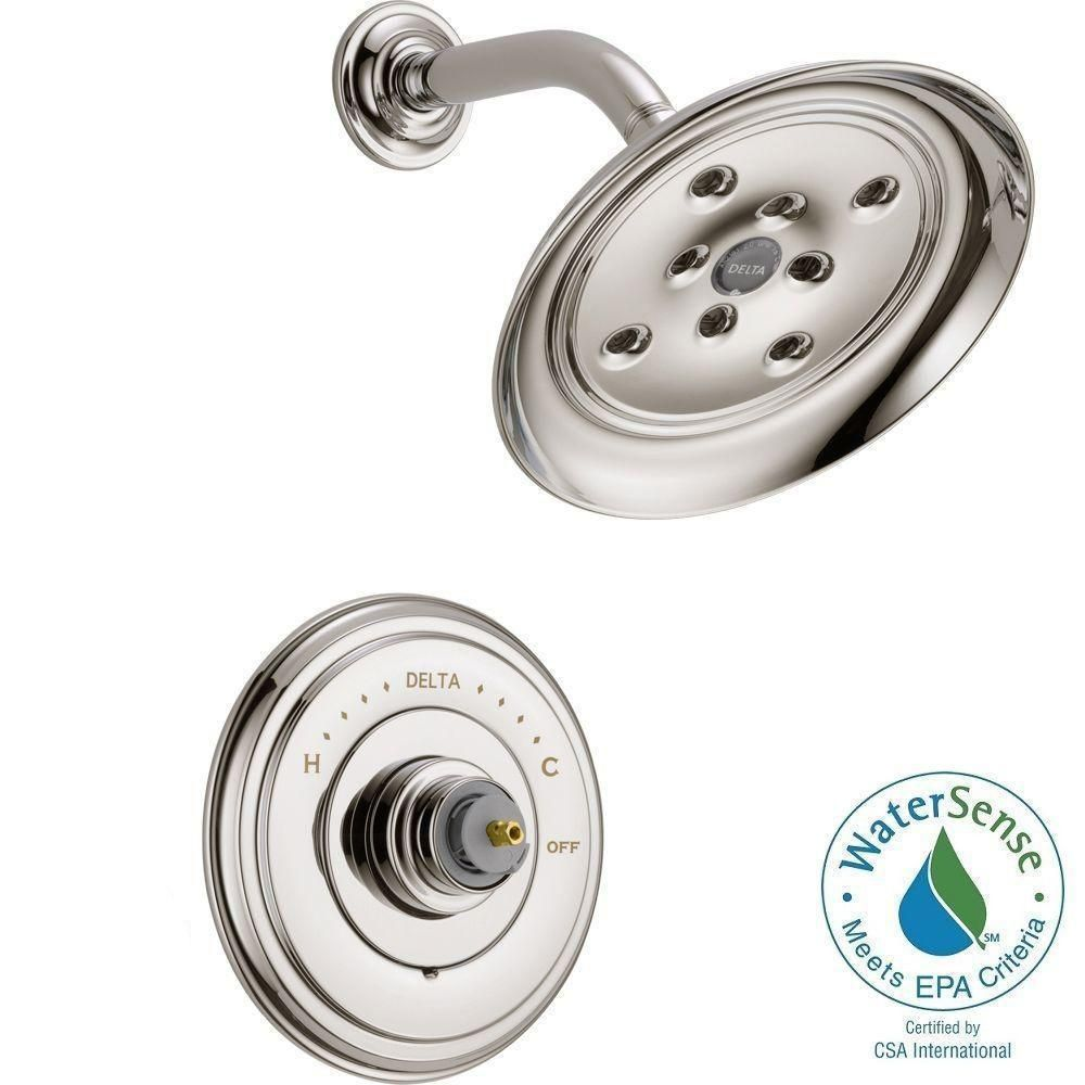 Delta Cassidy 14 Series 1 Handle Shower Faucet Trim Kit Only In