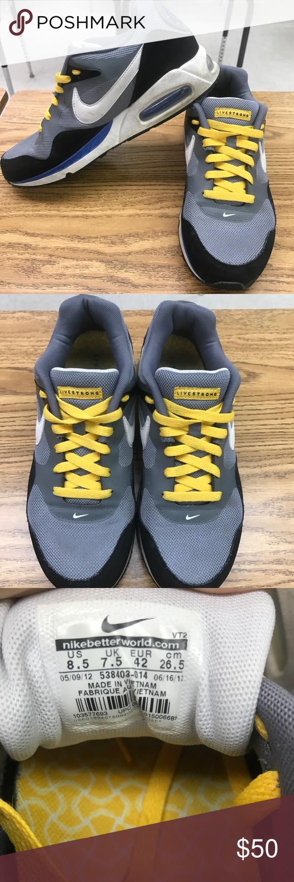 Livestrong Nike Air Max Shoes