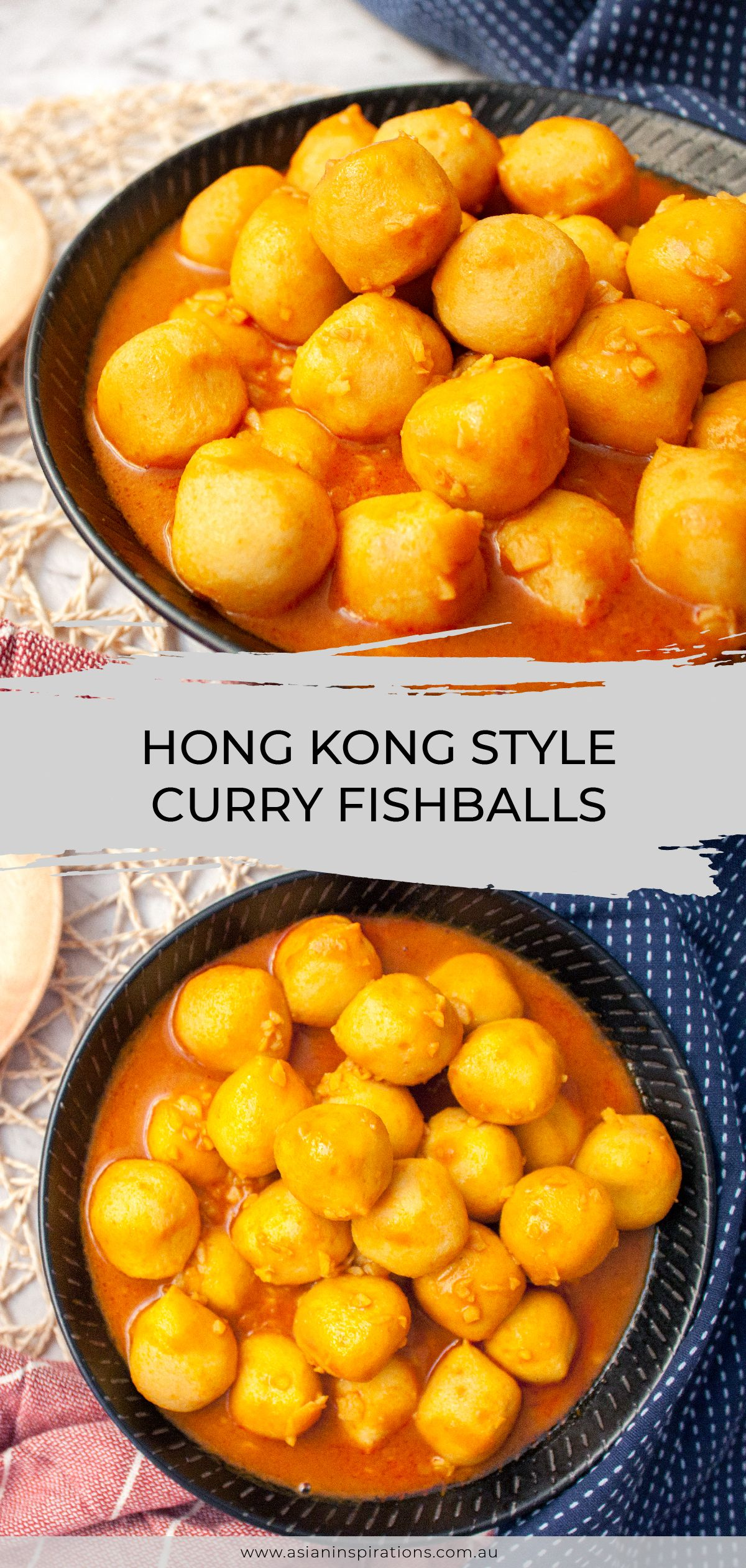 Hong Kong Style Curry Fishballs Asian Inspirations Recipe Chinese Street Food Food Curry Fish Balls Recipe