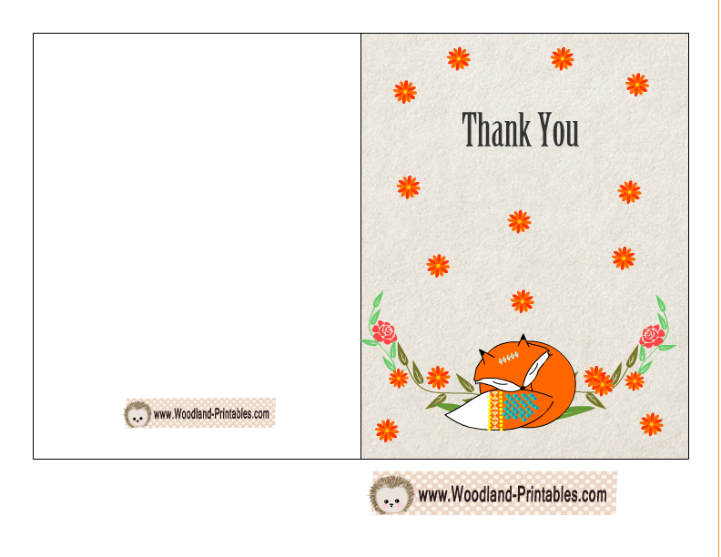 Free Printable Woodland Baby Shower Thank You Cards Baby Shower Thank You Cards Baby Shower Thank You Free Printable Baby Shower Games