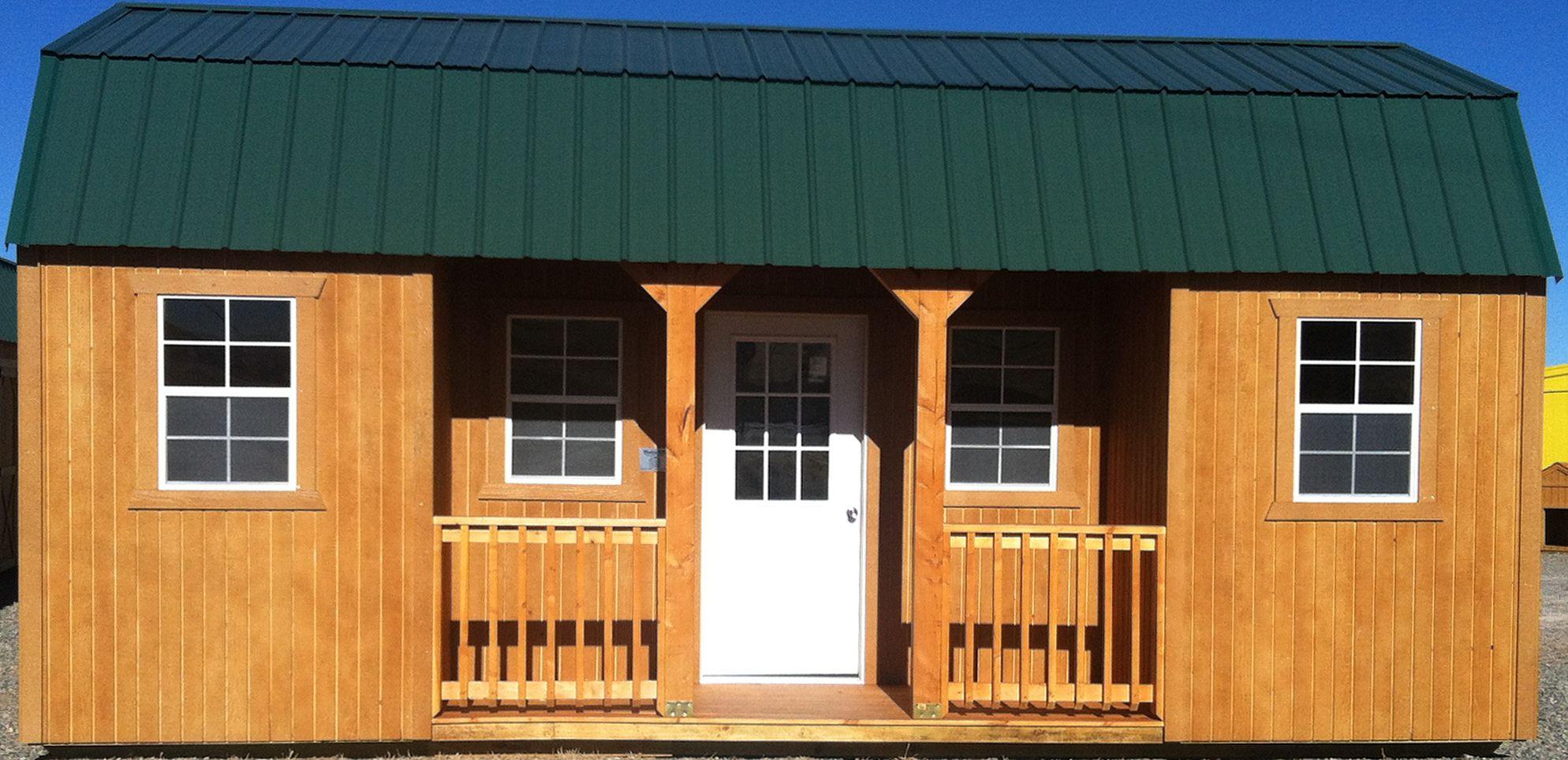 10 x 20 center porch 3x6 lofted over