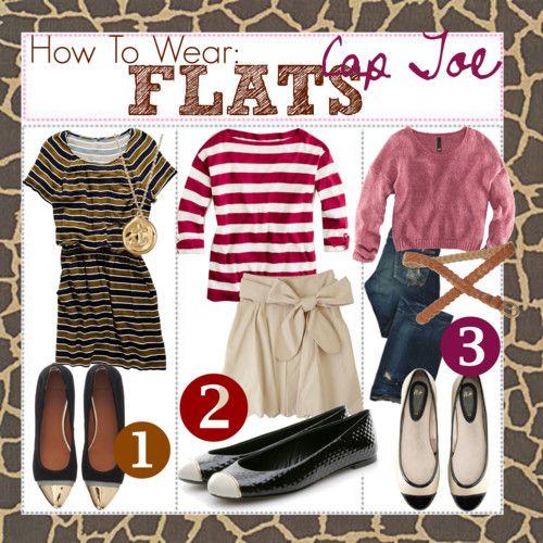 how to wear cap toe flats