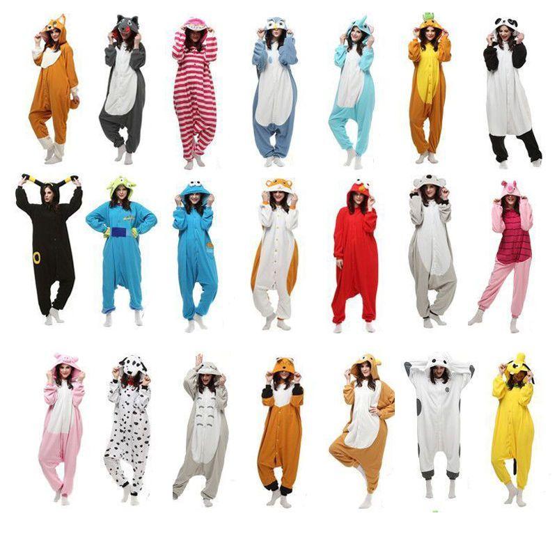 Unisex Adult Pajamas Kigurumi Cosplay Costume Animal Sleepwear Suit