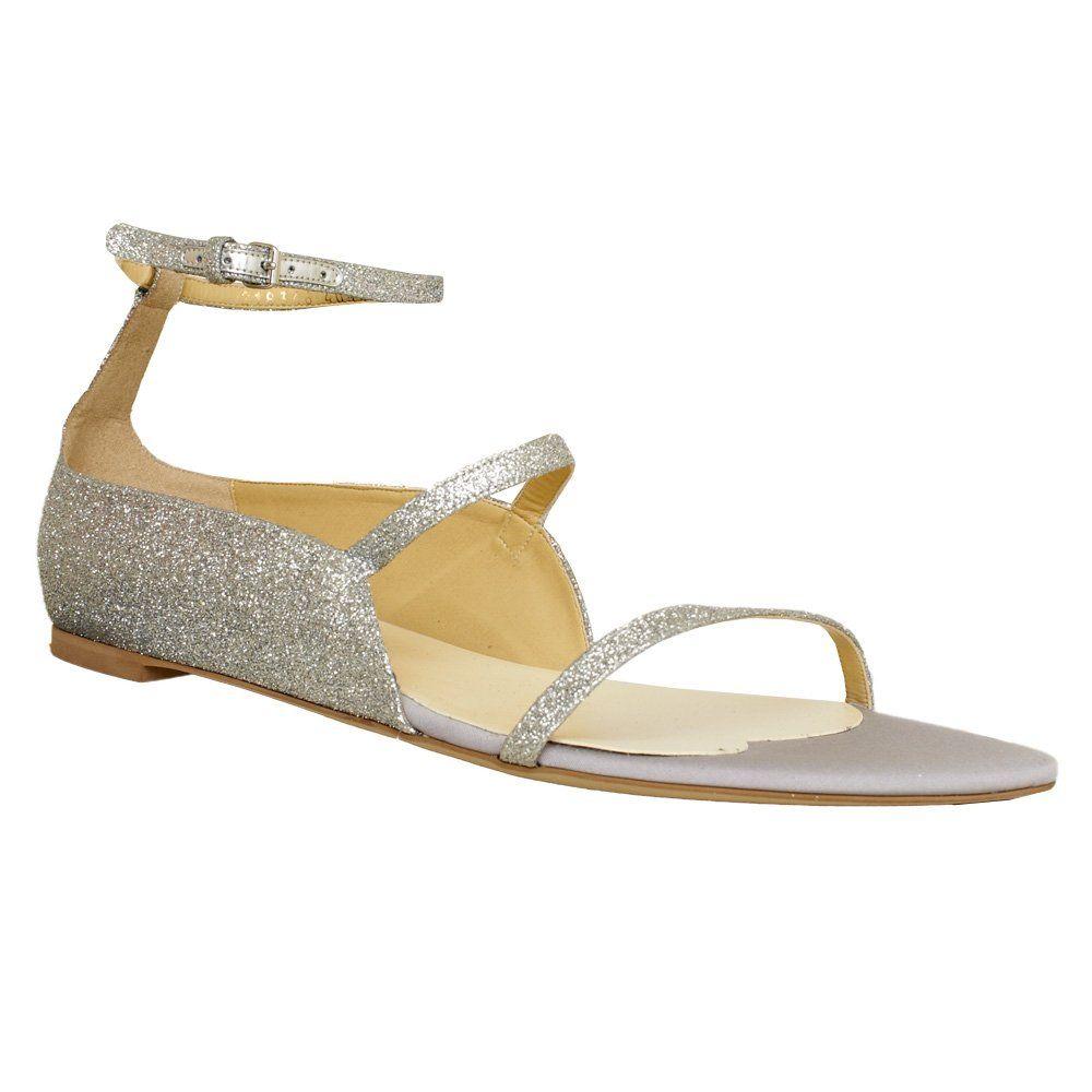Stella McCartney Metallic flat sandals om9HXcvBg