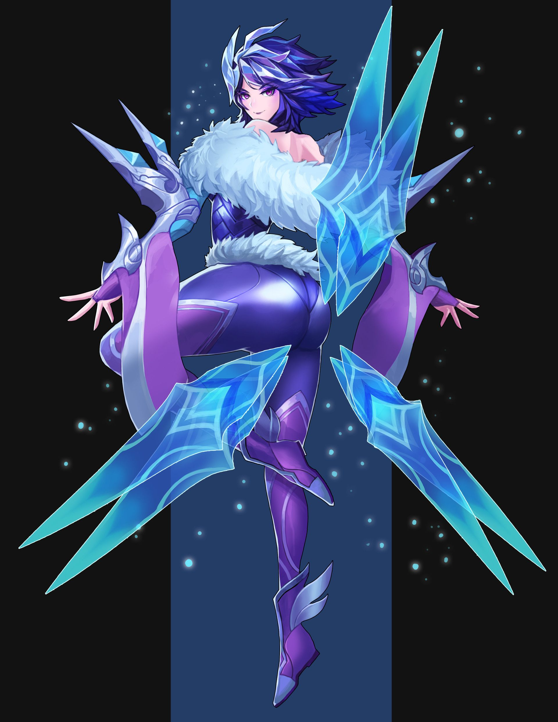 Frostbutt Irelia : frostbutt, irelia, ArtStation, League, Legend, Frostblade, Irelia, Fanart,, Legends, Poppy,, Legends,, Characters