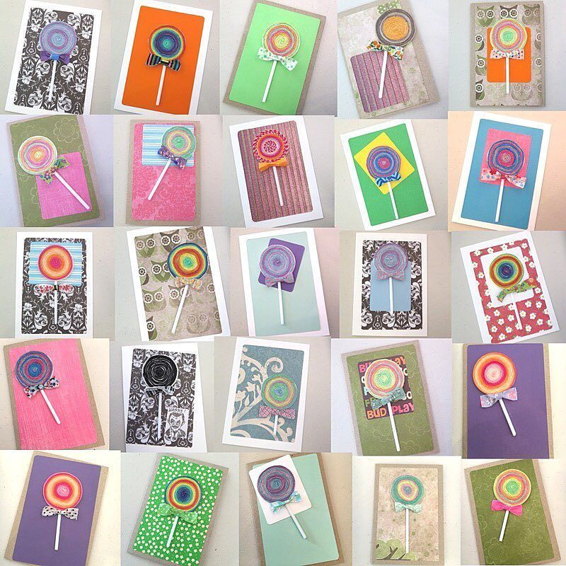 These #hhlollipop cards were created by our gorgeous customers last weekend at P2P. #hobbyhoppers
