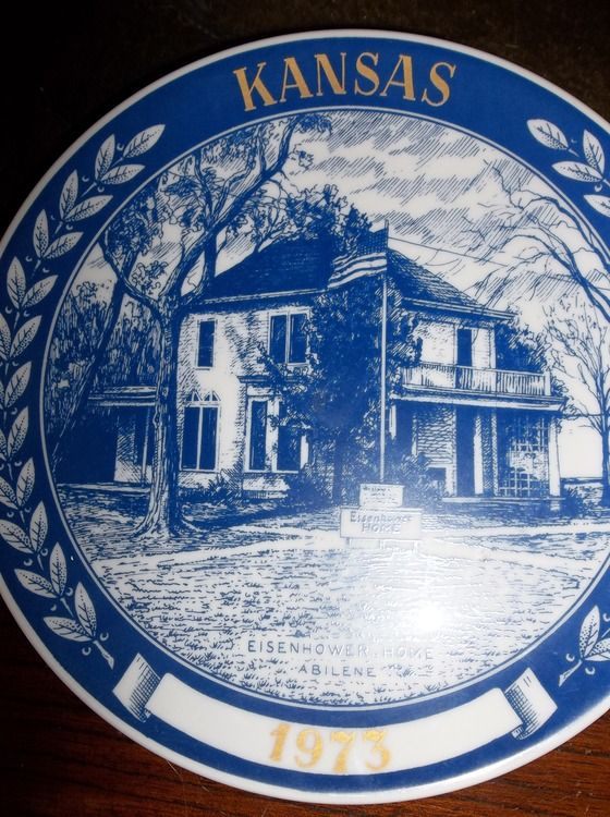 KANSAS SECOND EDITION 1973 COLLECTOR PLATE BY CHATEAU $12.00