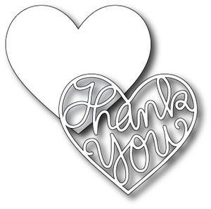 Simon Says Stamp STAMPtember™ THANK YOU HEART Craft DIE Pair