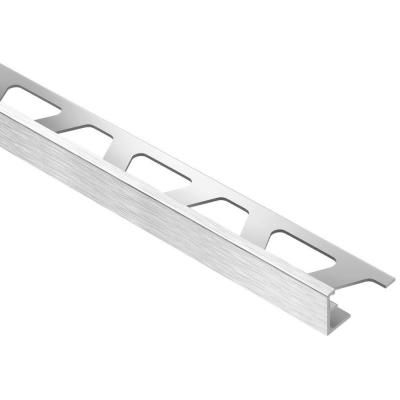 Schluter Systems Jolly Brushed Chrome Anodized Aluminum 1 2 In X 8 Ft 2 1 2 In Metal Tile Edging Trim A125acgb The Home Depot Tile Edge Tile Edge Trim Metal Tile