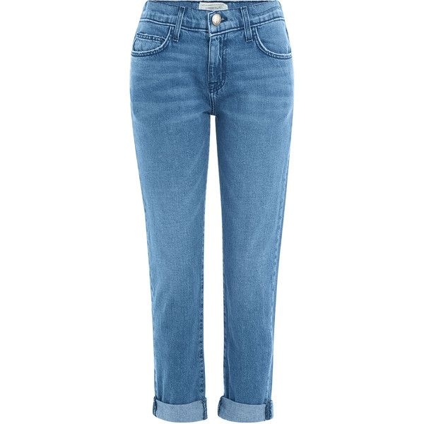 CurrentElliott The Fling Cropped Jeans ($260) ❤ liked on