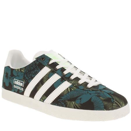 the best attitude 5e399 2be64 womens adidas black and blue gazelle og trainers | sneakers ...