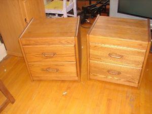 Oak Night Tables or Desk & Shelve for the Kids Room