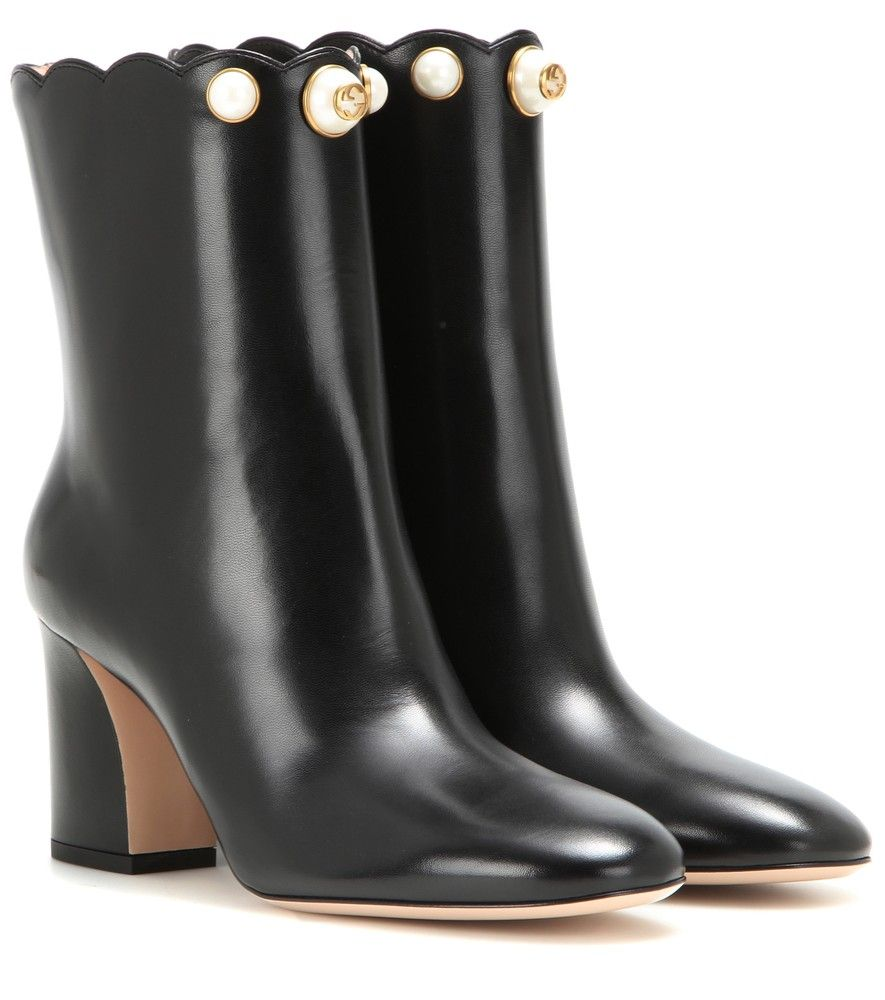 81effe5edd5 Gucci - Embellished leather ankle boots - Refreshed and rejuvenated ...