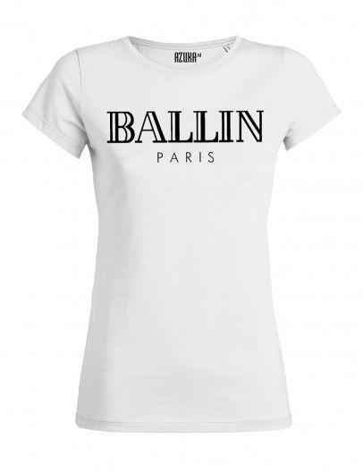 8f8c4250077 Azuka - T-shirt Ballin Wit - dameskleding - tshirts voor dames ...