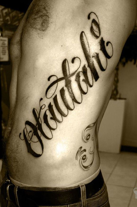 Cool Tattoo Lettering On Chest Tattoo Lettering Design Tattoo Lettering Tattoos For Guys