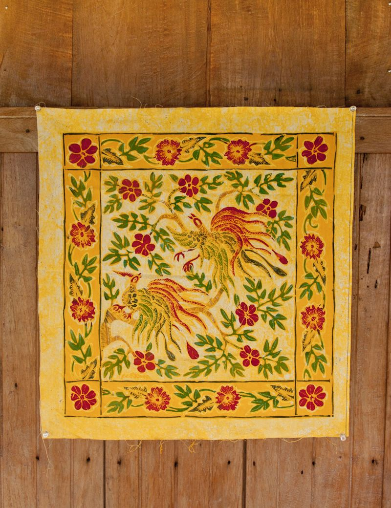 Traditional Javanese Batik A classic traditional Javanese batik ...