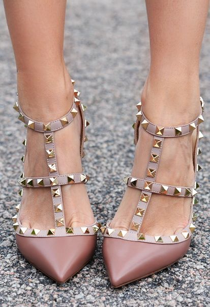 69b761e333b Valentino Rockstud in pink nude shade. Every girl needs on of those ...