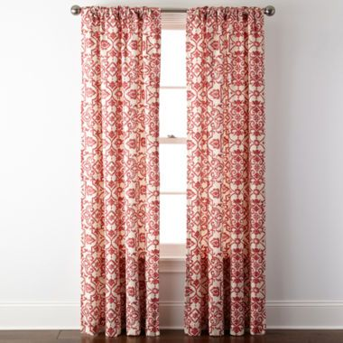 Jcpenney Home Landry Rod Pocket Back Tab Curtain Panel Found At