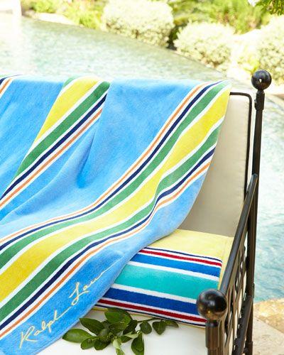 H85et Ralph Lauren Sag Harbor Beach Towel 40 X 70 Beach Towel