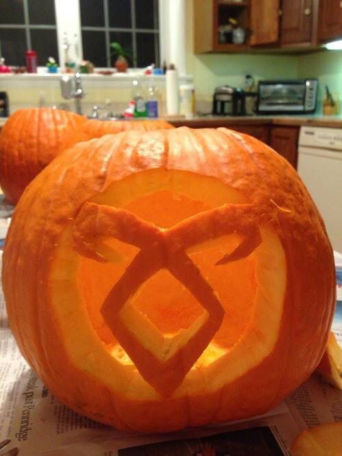 Image result for the mortal instruments pumpkin carving templates