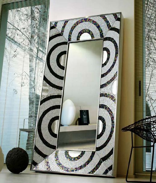 How To Decorate A Mirror With Mosaic Tiles Sicis Mosaics Tile Mirror  Decorate Me Lovely  Pinterest  Tile