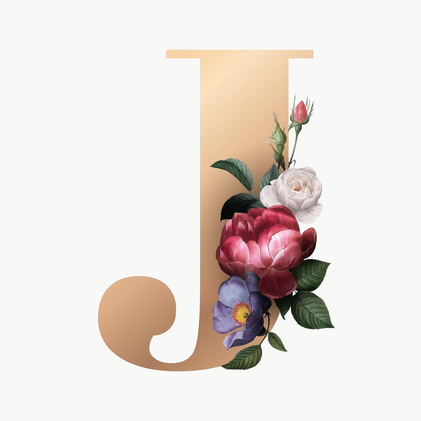 Classic And Elegant Floral Alphabet Font Letter J Transparent Png Free Image By Rawpixel Com Manotan Disenos De Letras Acuarela Floral Arte De Mickey Mouse
