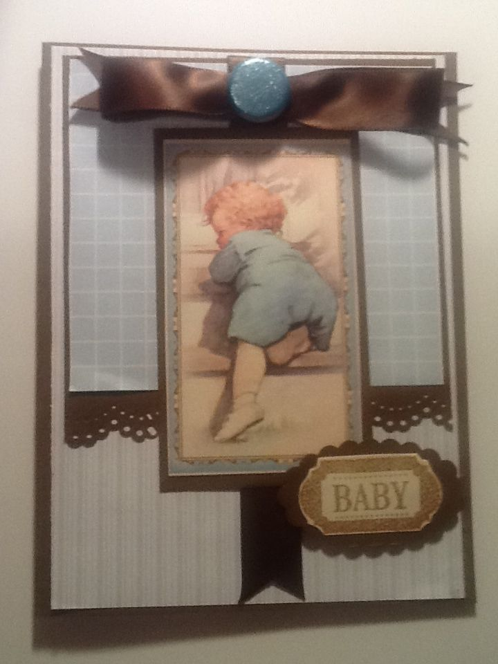 Little boy blue card