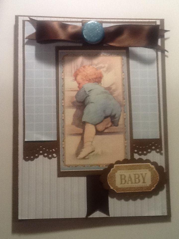 Little boy blue card