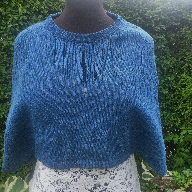 Lille sommer cape by Tina Raabirck | Machine Knitting | Pinterest ...